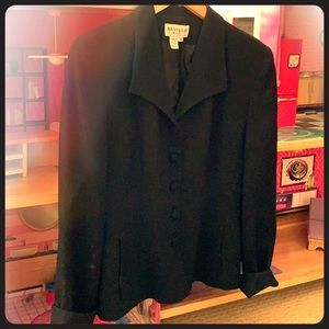 Black tailored dress blazer. Saville brand name